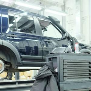 Range Rover on ramp